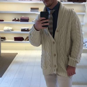 Hand-made Shawl-Neck Cucinelli Cardigan